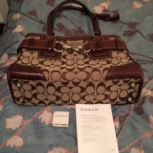 Leather and Canvas Coach bag